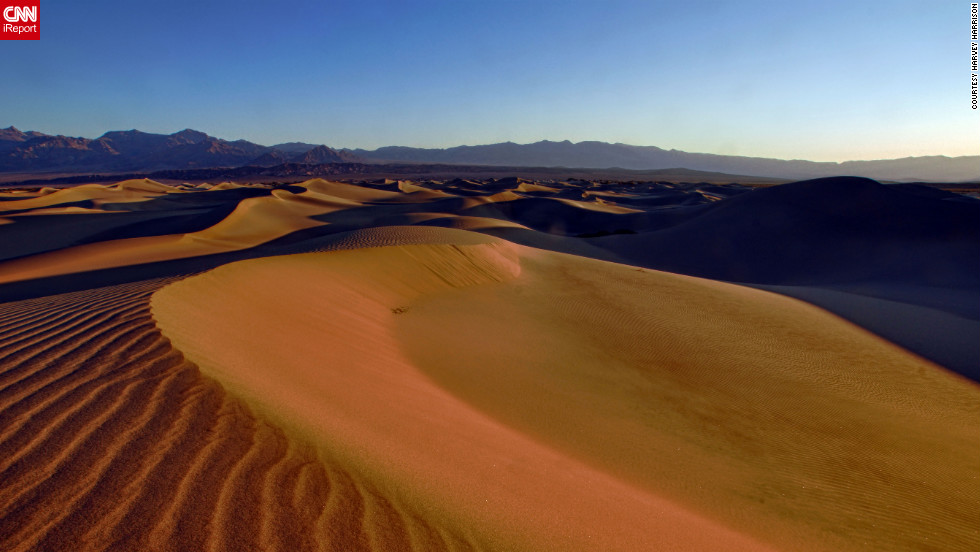 """""""I remember thinking at the time that this was like something from a movie set of a fictional distant planet,"""" says <a href=""""http://ireport.cnn.com/docs/DOC-825817"""">Harvey Harrison</a>, who shot this photo in California's Death Valley National Park."""