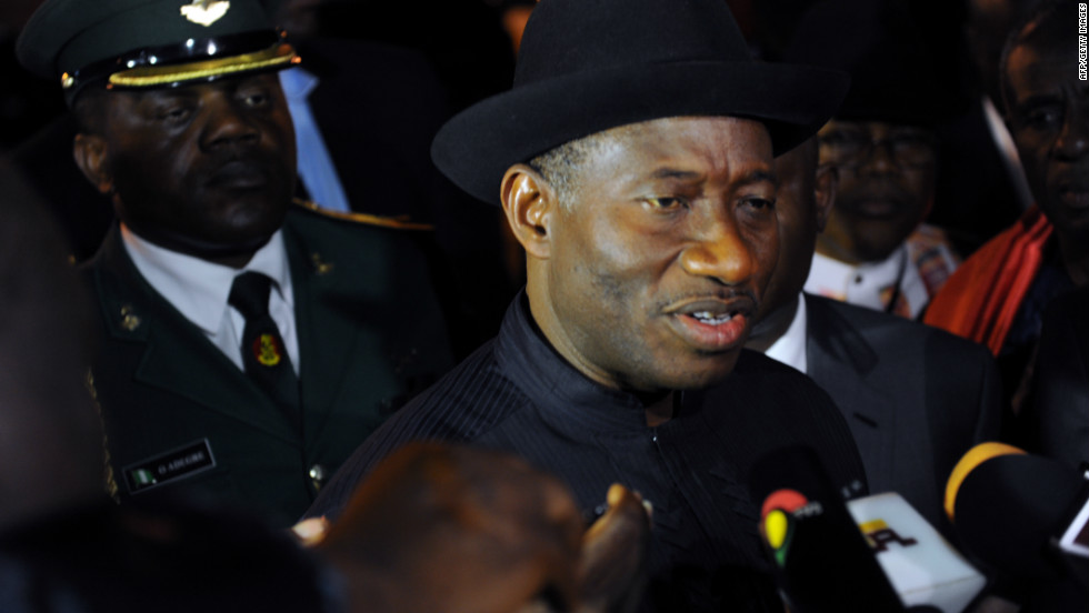 Nigerian president Goodluck Jonathan also arrived Thursday to Ghana, one of the many heads of state attending the burial of Mills.