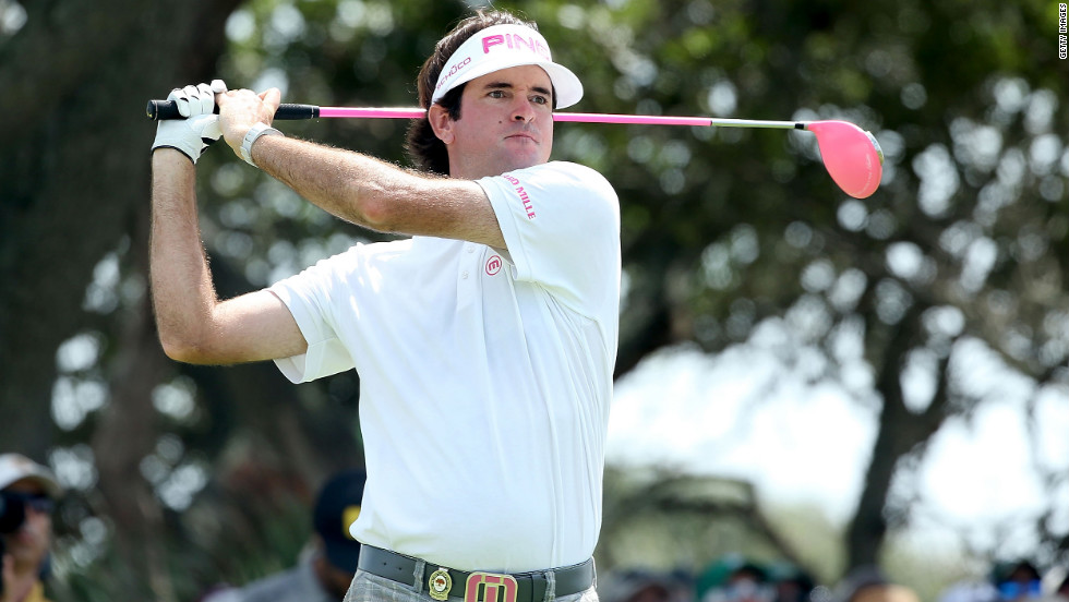 Bubba Watson of the United States hits off the seventh tee during Round Three.