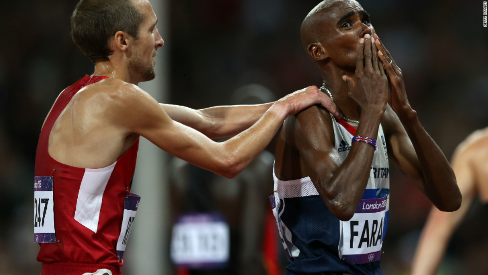 "For Dan O'Brien, former U.S. American decathlete, Great Britain's Mo Farah winning the men's 10,000m is his most memorable moment of London 2012. ""Mo Farah coming around the turn and Galen Rupp right on his heels. It brought me to my feet... It got me up on my feet and I was screaming."""