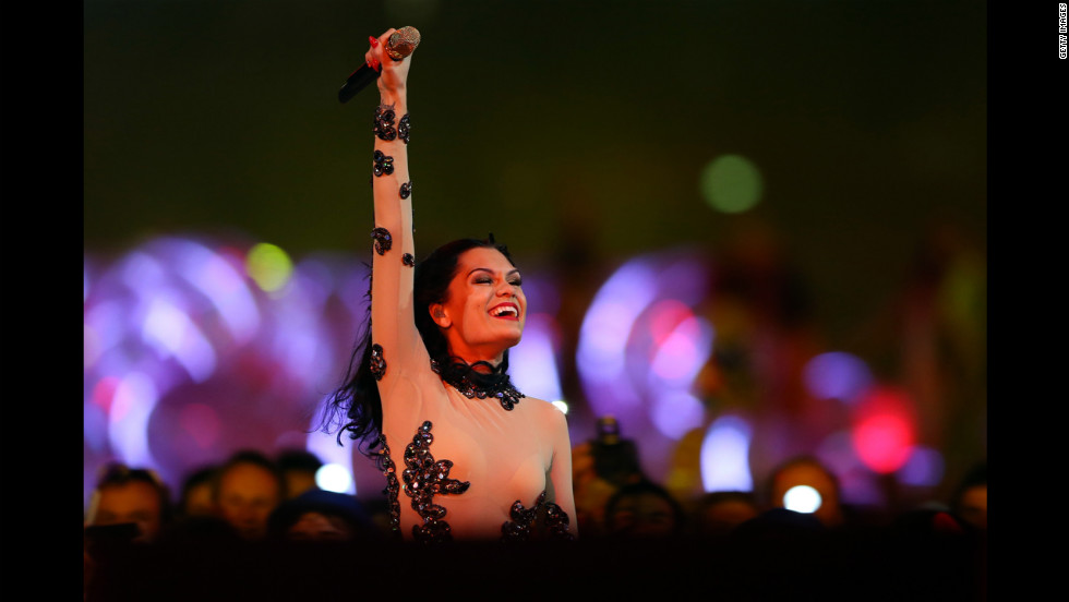 Jessie J performs during the closing ceremony.