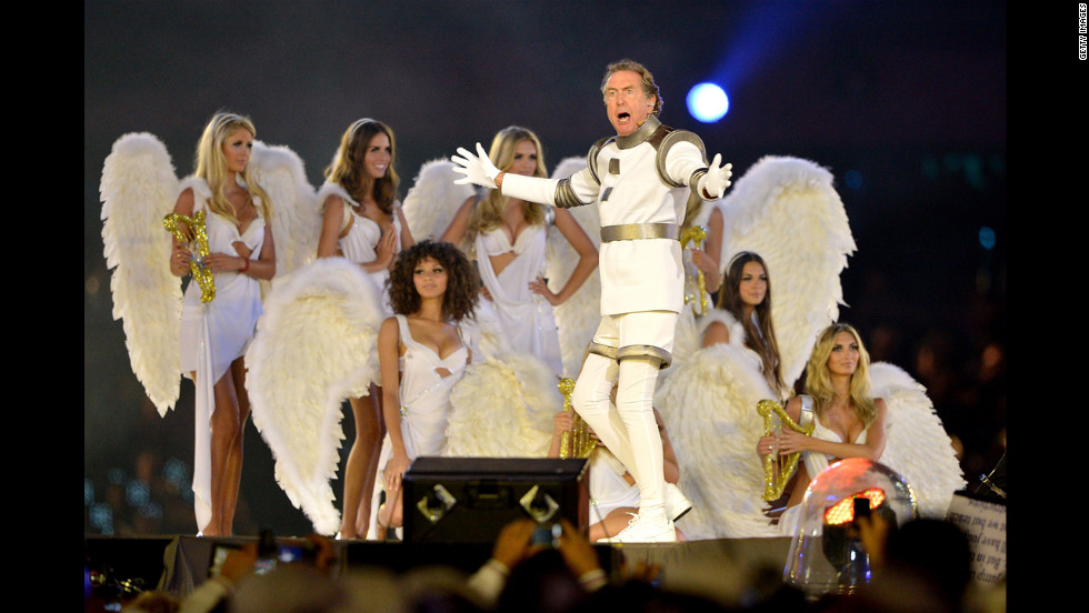Eric Idle performs during the closing ceremony.