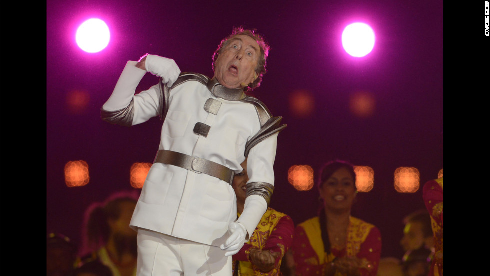 British comedian Eric Idle performs.