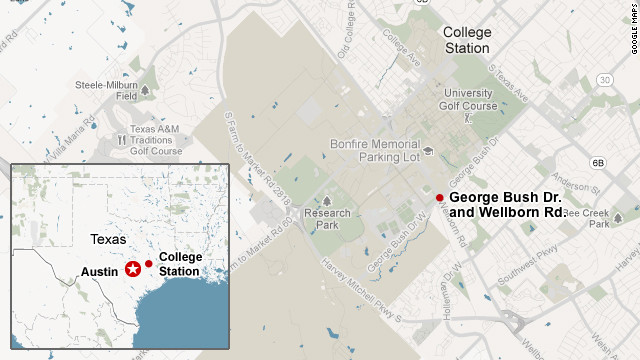 Map: College Station shooting