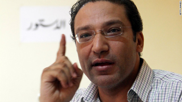 Islam Afifi, editor of the Egyptian El-Dustour newspaper, is accused of spreading false rumors.