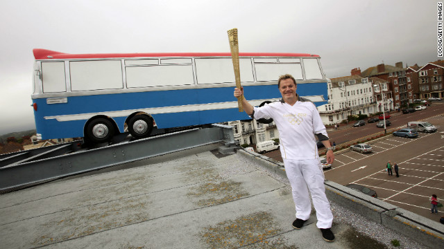 Comedian and actor Eddie Izzard carried the Olympic Torch on its journey around Britain prior to the London 2012 Games.