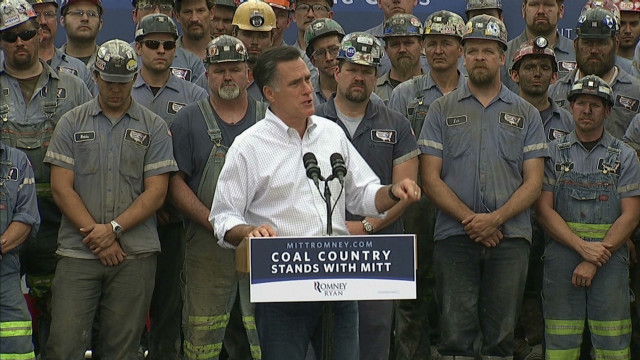 Romney digs at Obama's 'war on coal'