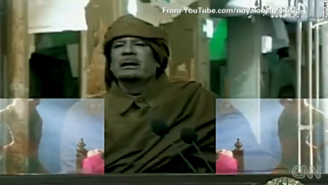 2011: Gadhafi gets autotuned with 'sexy' dancer. Jeanne Moos reports some Arabs cheer the Israeli who did it.