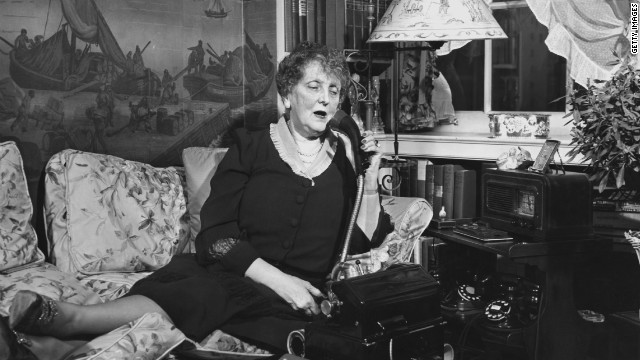 Etiquette writer Emily Post (1872-1960), pictured at home in 1940, remains relevant in the digital age -- with a few tweaks.