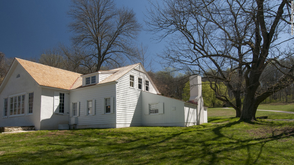 Andrew Wyeth's studio in Chadds Ford, Pennsylvania, was built as a schoolhouse in the 19th century.