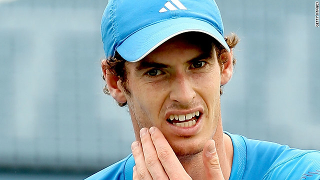 Andy Murray struggled to produce the form that saw him claim a gold medal at the London Olympics.