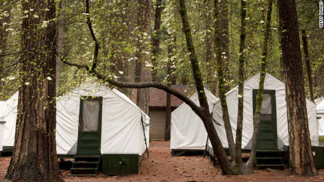 "Most of the six cases at Yosemite National Park were in people who stayed at the park's popular Curry Village ""tent cabins."""