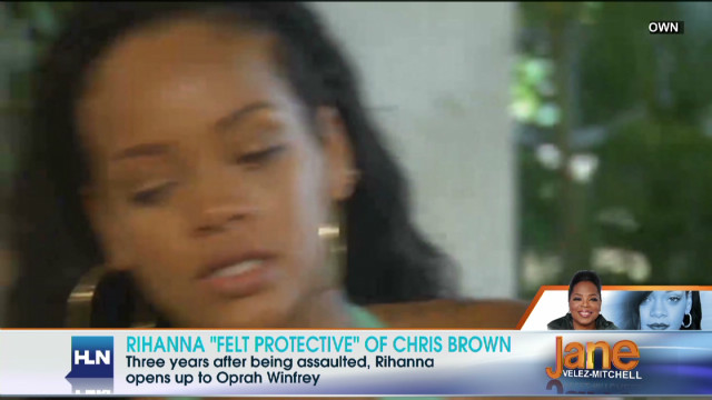 Rihanna 'felt protective' of Chris Brown