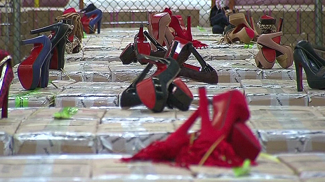 Phony 'red sole' shoes seized