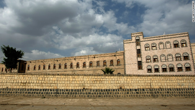 A picture shows the defence ministry headquarters in the Yemeni capital Sanaa on August 14, 2012.