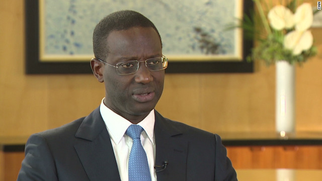 Ivorian-born Tidjane Thiam is the chief executive of Prudential