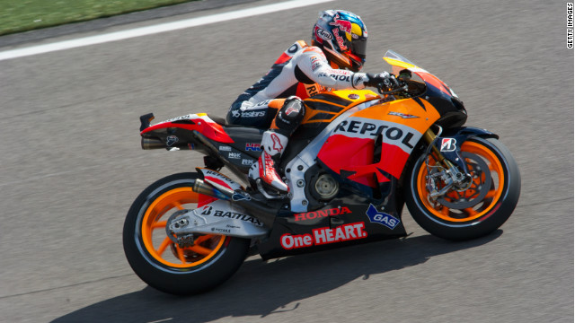 Dani Pedrosa at the Indianapolis Grand Prix