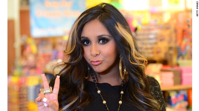 LOS ANGELES, CA - JULY 18: Reality TV star Nicole 'Snooki' Polizzi launches Snooki's Wild Cherry soda held at Rocket Fizz Soda Pop and Candy Shop on July 18, 2012 in Los Angeles, California. (Photo by Jason Merritt/Getty Images)