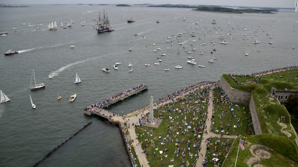 """The voyage marks the second time the USS Constitution, or """"Old Ironsides,"""" sailed on her own since 1881. The last such trip was in 1997."""