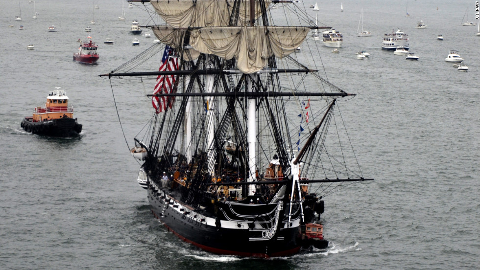 The ship, which is considered the world's oldest commissioned warship afloat, prepares to set sail Sunday.