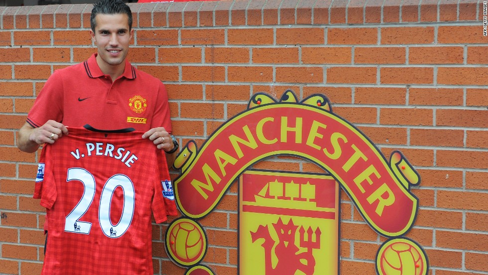 <strong>Arsenal to Manchester United </strong>Robin van Persie, the English Premier League's top scorer last season, stunned Arsenal fans by joining rivals United for $37 million after refusing to sign a new contract.
