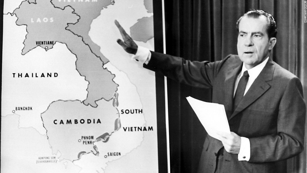 """<strong>PROMISE: """"I have a secret plan to end the war."""" </strong>Some figures close to Nixon argued that he never said it. But the remark has become part of his campaign lore and the promise, misquoted or not, has been citied on occasion by politicians when they call out an opponent for issuing vague guarantees."""
