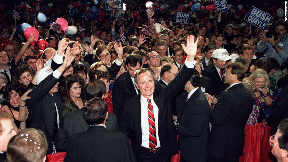 """<strong>PROMISE: """"Read my lips; no new taxes."""" </strong> Bush promised this while accepting the Republican  nomination to shore up conservative support and appear tougher heading into the election. But facing high deficits and the prospect of severe cuts in entitlements, Bush agreed with the Democratic-controlled Congress on a budget that included new taxes. The reversal hurt him in 1992 when he lost his bid for reelection."""