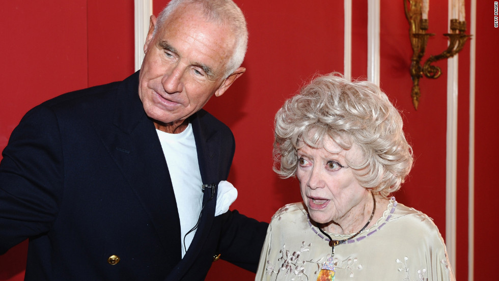 Prince Frederic von Anhalt talks with Diller during the 25th wedding anniversary celebration for von Anhalt and Zsa Zsa Gabor in Los Angeles on August 14, 2011.