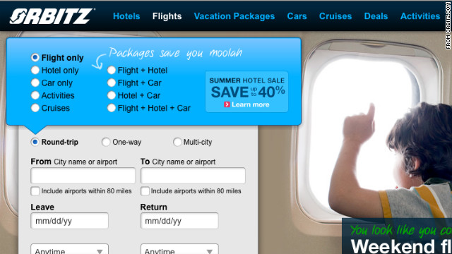 """The DOT claims Orbitz failed to """"clearly and prominently"""" inform travelers about potential baggage fees."""