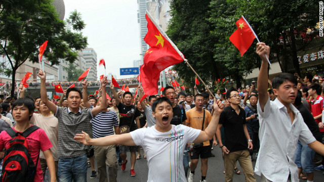 Anti-Japanese protests erupted across many Chinese cities earlier this month.