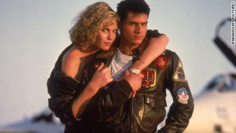 Tom Cruise and Kelly McGillis in  1986 film Top Gun.