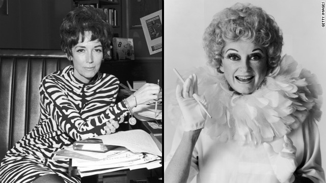 Former Cosmopolitan editor Helen Gurley Brown (left) and comedian Phyllis Diller