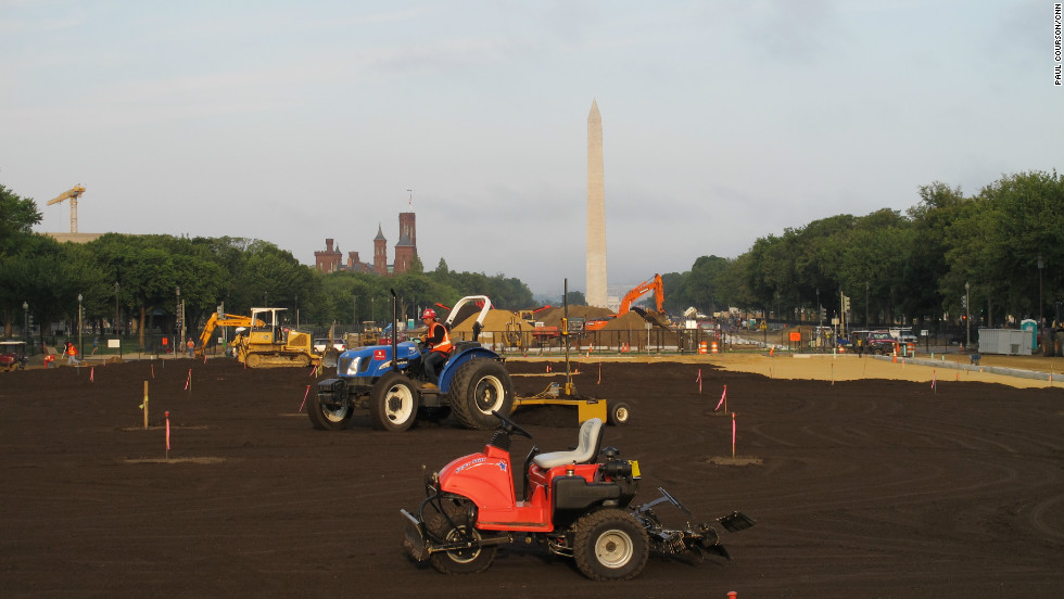 Fresh turf will be taking root ahead of January's presidential Inaugural.