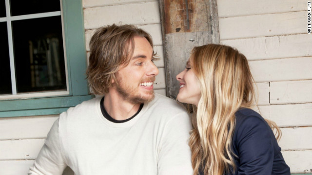 Dax Shepard stars as Charlie Bronson and Kristen Bell stars as Annie in 'Hit and Run.'