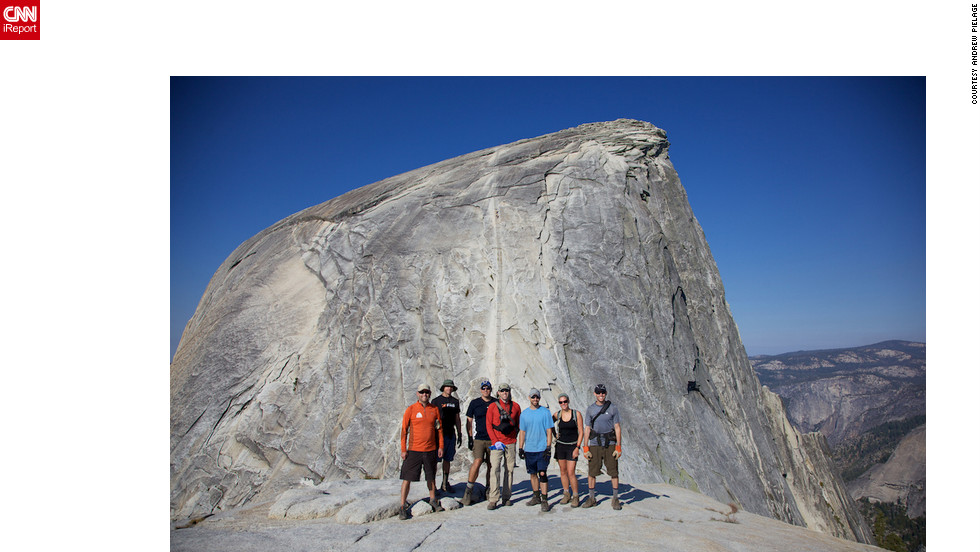 "Backpacking for three days through Yosemite National Park, iReporter Andrew Pielage and his friends crossed a life's ""to-do"" off their list when they made it to the top of Yosemite's famous Half Dome. ""It was a dream come true,"" he said. ""I had waited twenty years to do it and I finally made it.<a href=""http://ireport.cnn.com/docs/DOC-829752"" target=""_blank"">Check out another photo and read more about their journey on Andrew Pielage's iReport</a>."