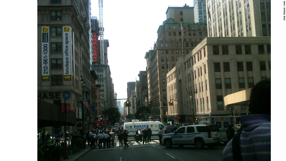Police closed down the streets near the Empire State Building, which attracts 3.6 million visitors a year.