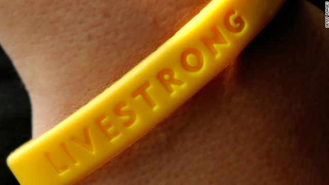 The yellow Livestrong bracelets are synonymous with Lance Armstrong's charity.
