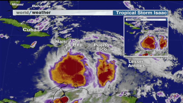 TS Isaac sets eyes on Haiti and others