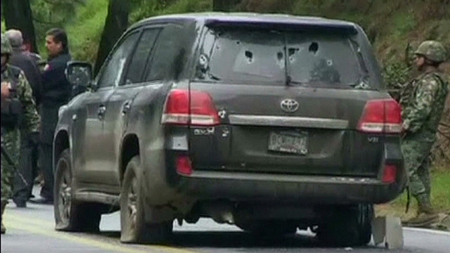 Diplomatic vehicle shot up in Mexico