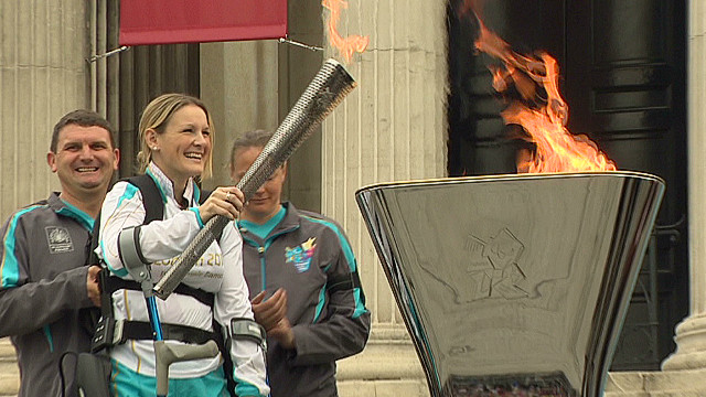 Paralympic torch lit in London
