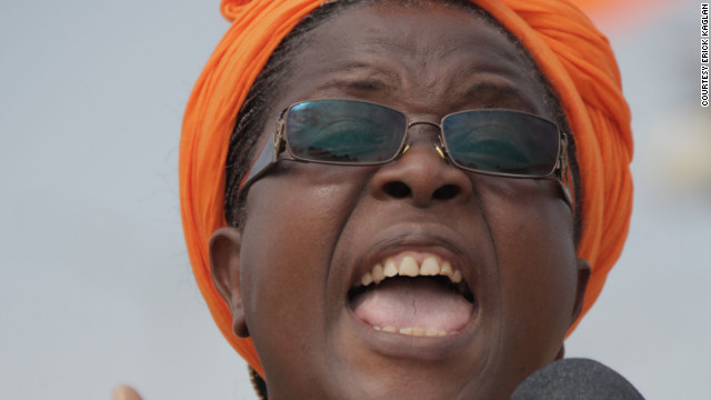 "Isabelle Ameganvi, pictured, leader of the opposition Let's Save Togo, called for a ""one-week sex strike, fasting and prayers."""