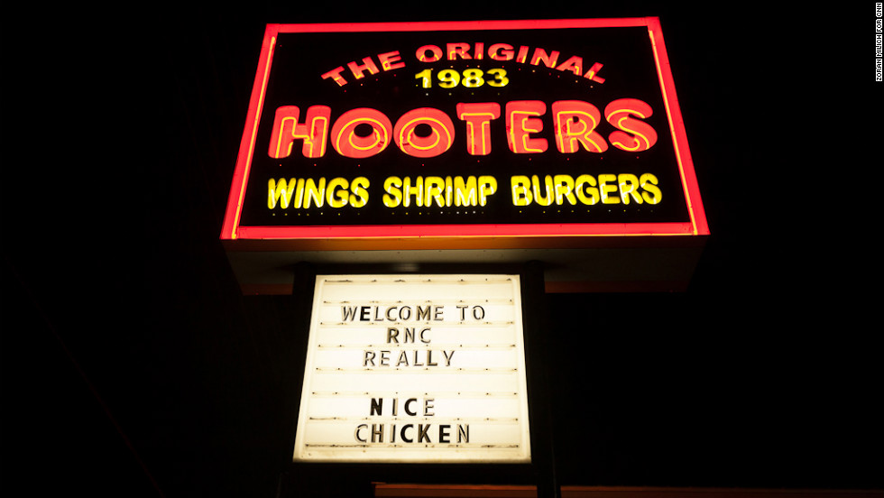 The Original Hooters restaurant welcomes the RNC.