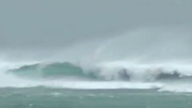Riding out typhoon in Okinawa