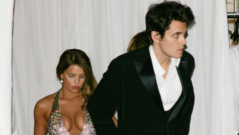 Mayer and Jessica Simpson were first linked in summer 2006. They were photographed together at Christina Aguilera's New Year's Eve party, but broke up later that year.