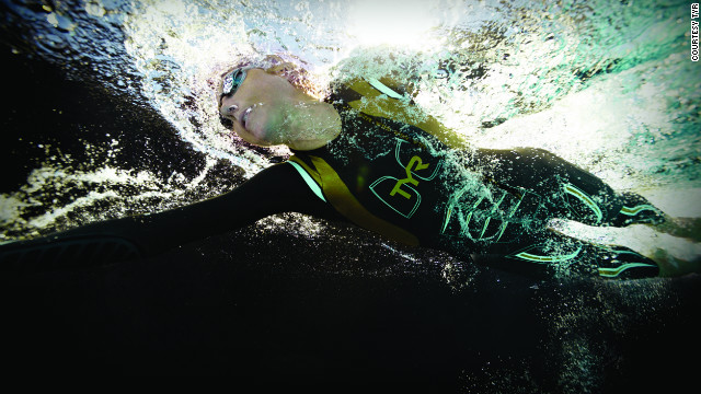 Pool swimming can be very different from open water swimming, says Chrissie Wellington, four-time World Ironman champion.