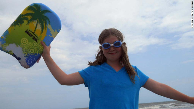 A board and goggles from Grandma were a hit with Savannah on Hilton Head Island, South Carolina.