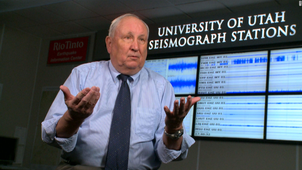 Dr Bob Smith believes a supervolcano eruption under Yellowstone  would cover the western U.S with ash that would also enter the jet stream potentially crippling air travel and the world's food supply.