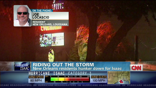 New Orleans native rides out Isaac