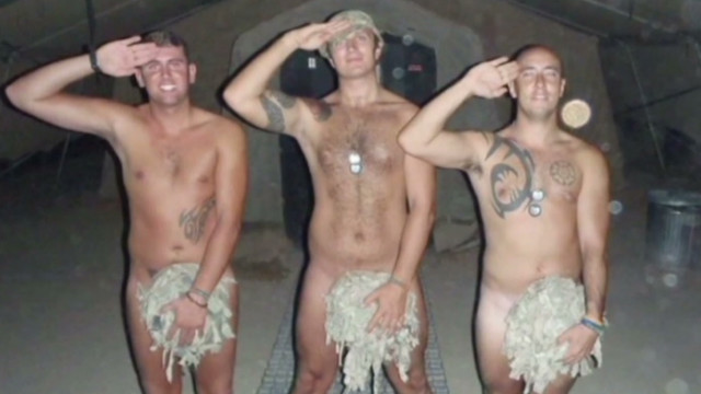 Soldiers strip for Prince Harry