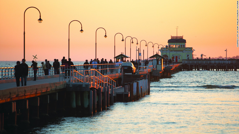 St. Kilda, an easy tram ride from the city center, offers the pier, the pavillion, cafes and seafood joints.
